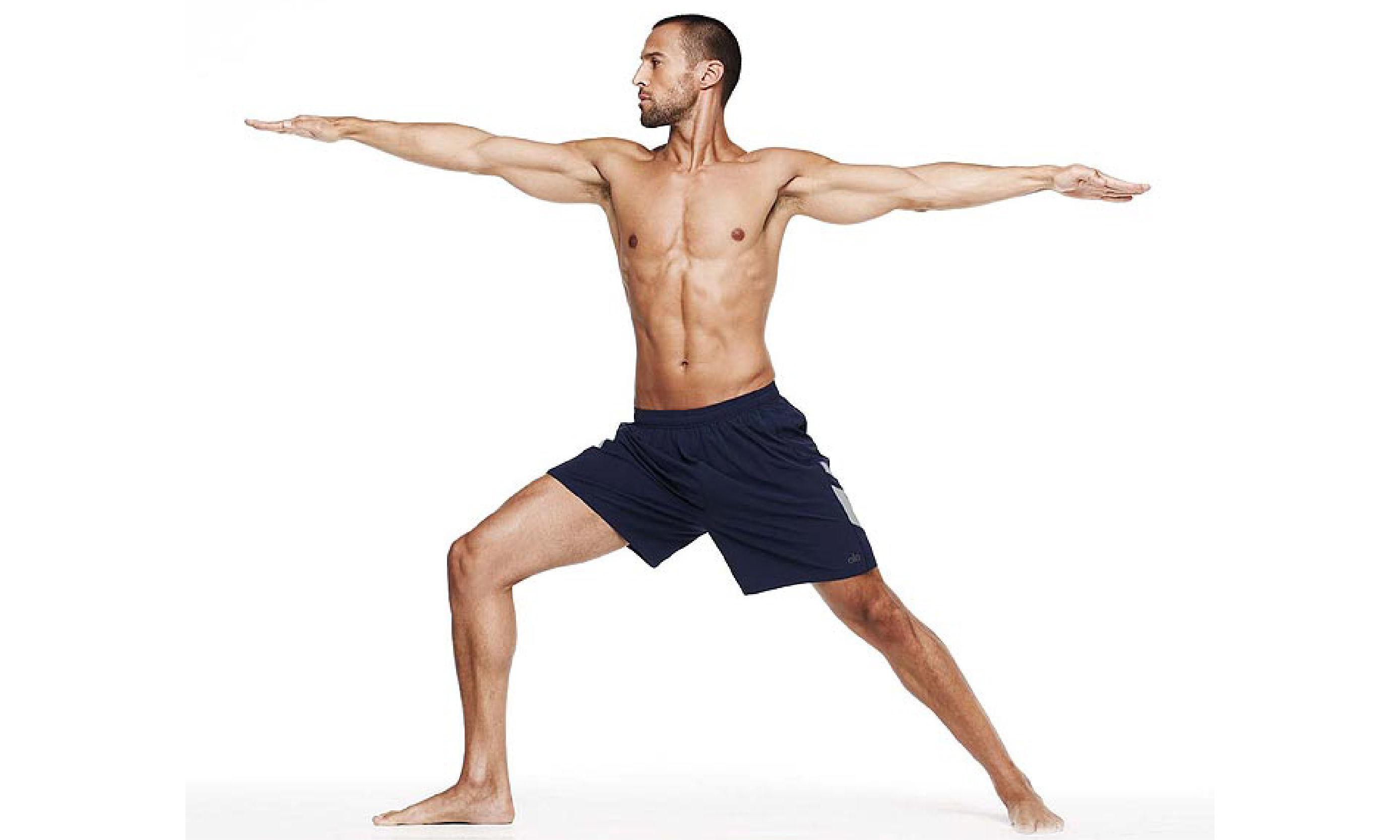 Yoga pose Warrior-2