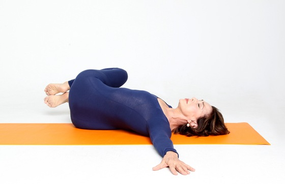 Reclined-Twist yoga pose